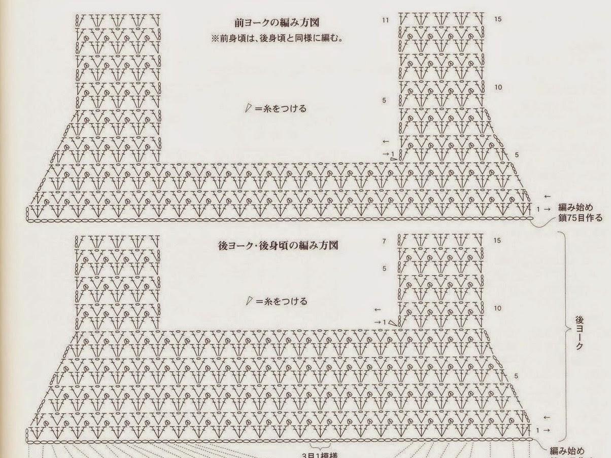 Схема детской кокетки для сарафана