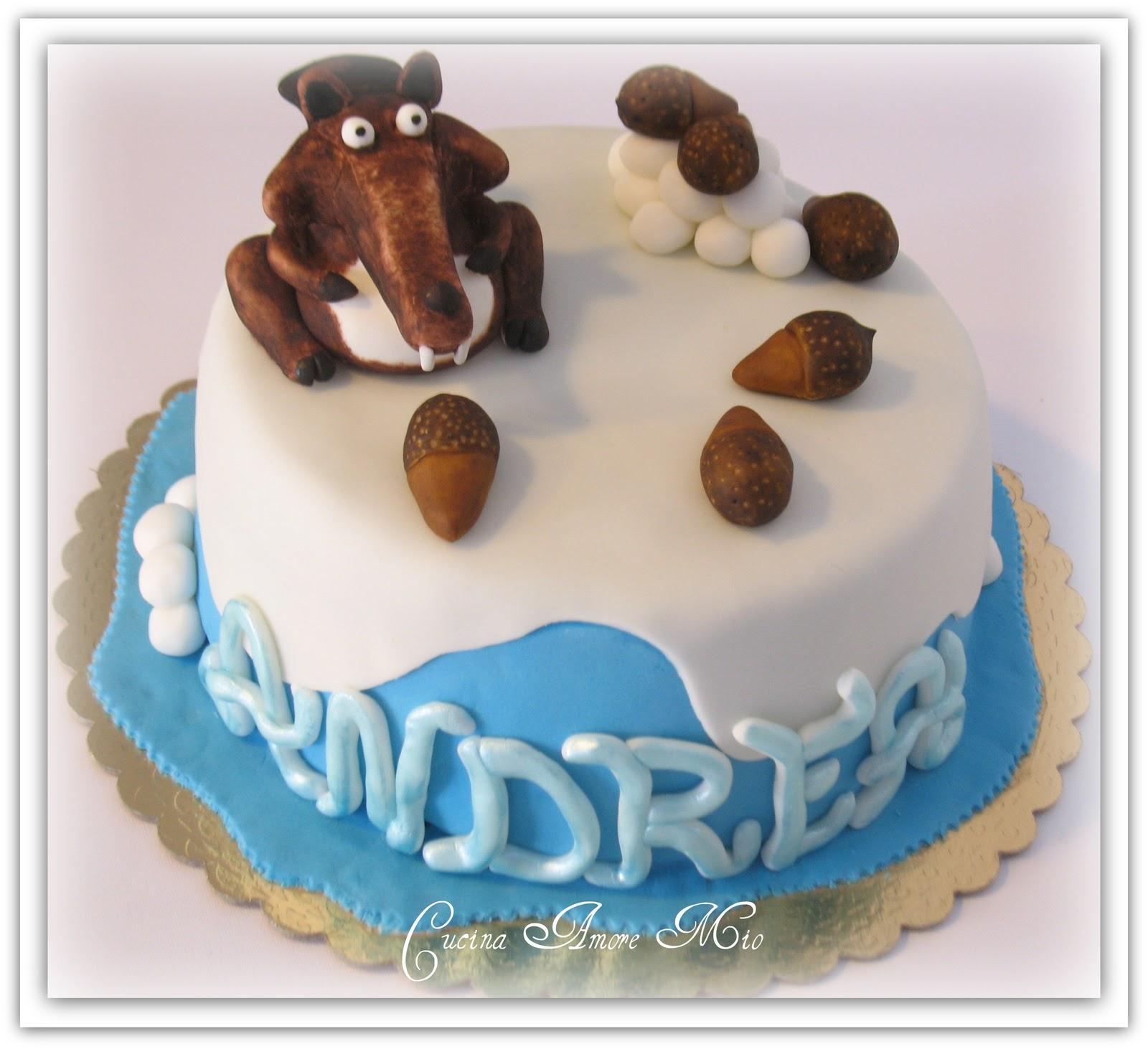 Eccezionale Lara Costantini Cake Designer: TORTA ERA GLACIALE - SCRAT E LE SUE  YK95