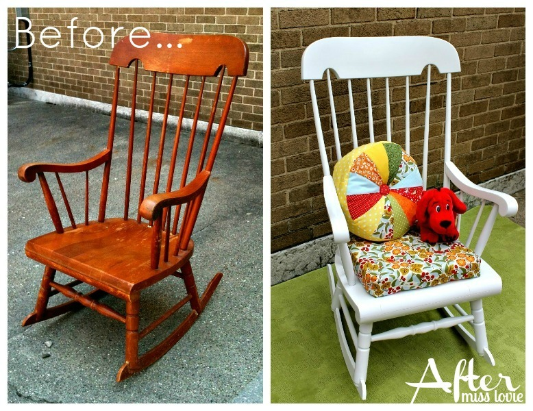 miss lovie reading chair makeover