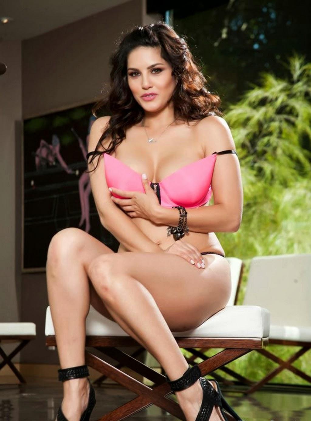 hot Sunny Leone pink bra Wallpapers hd nice image