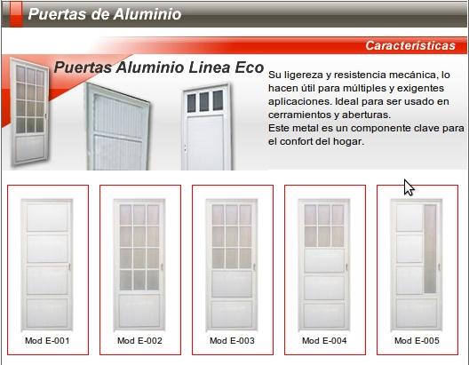Nuevo santiago aberturas s r l mayo 2011 for Catalogo puertas metalicas