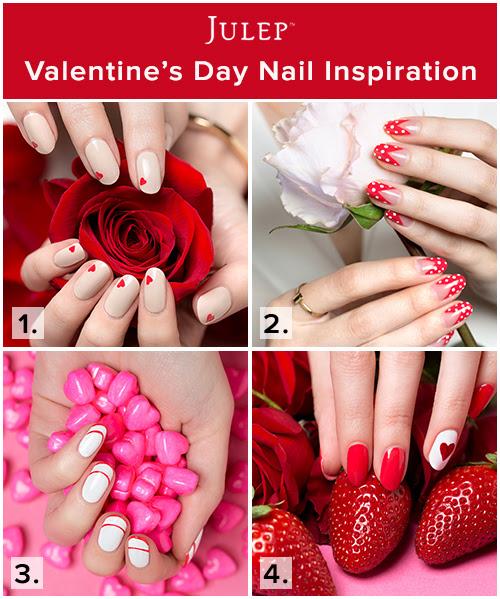 Four easy Valentine's Day nail art tutorials.
