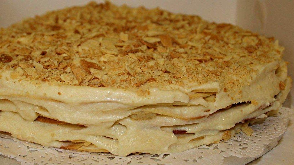 Торт Наполеон - Праздничный торт - Десерты - Кулинарные рецепты - Ресторан дома