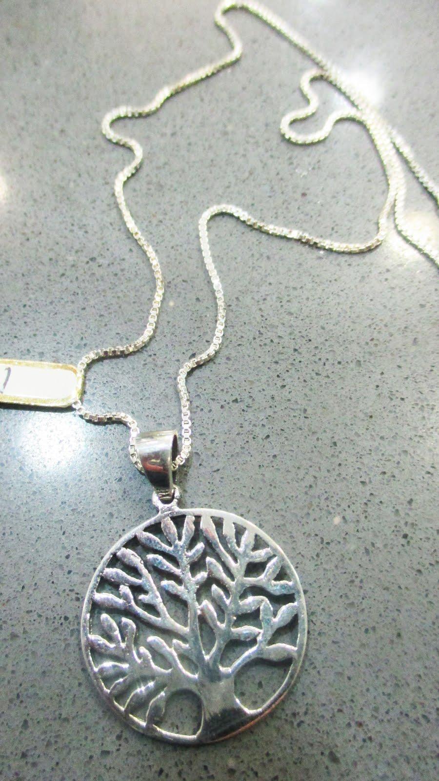 Colgante de plata Árbol de la Vida y cadena