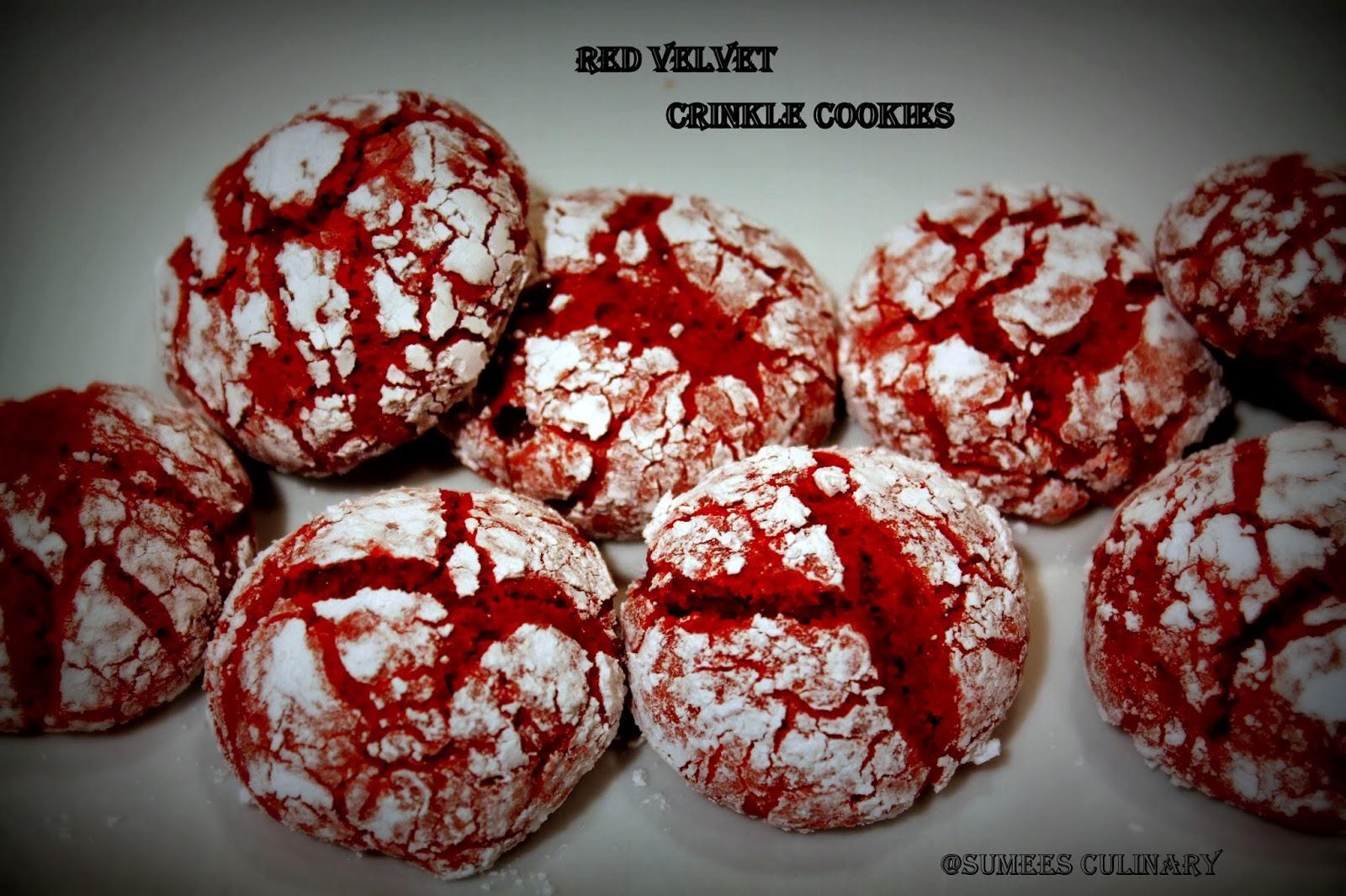 Sumee's Culinary Bites: Red Velvet Crinkle Cookies