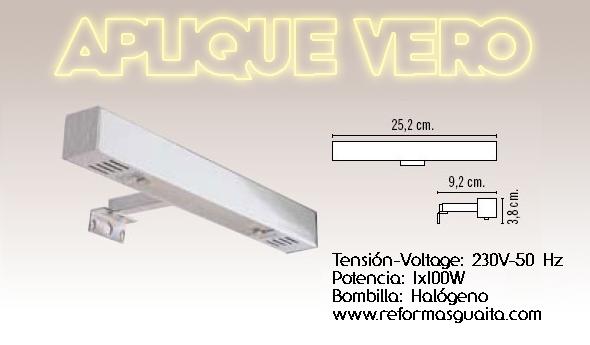 Iluminacion Baño Camerino:Apliques de luz para el espejo del baño V ~ Reformas Guaita