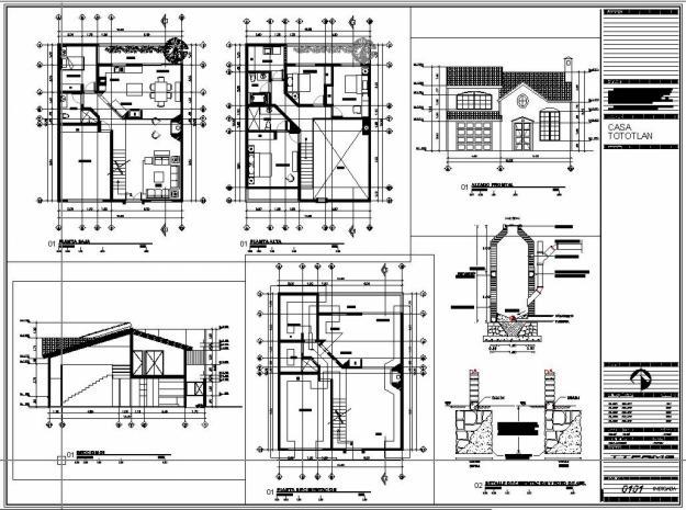 Planos De Casas En Autocad Imagui
