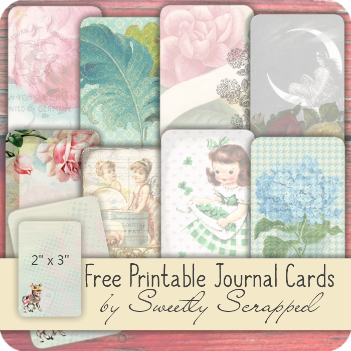 photograph about Printable Journaling Cards known as Sweetly Sped: *No cost* Printable Magazine Playing cards