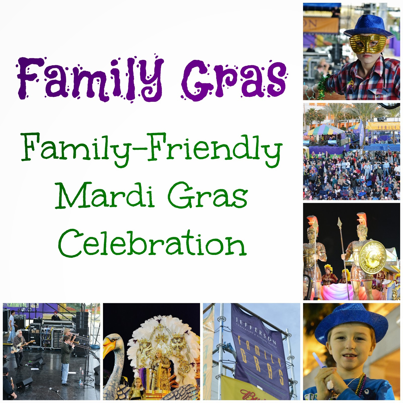 Family Gras is a family friendly annual festival in Jefferson Parish LA., that features great food, entertainment and real #MardiGras parades! #travel #familytravel