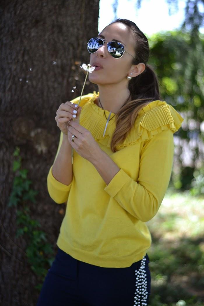 maglia gialla con rouches