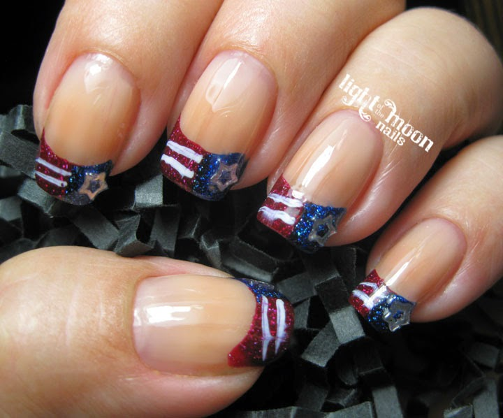 Light of the Moon Nails: 4th of July Nail Art