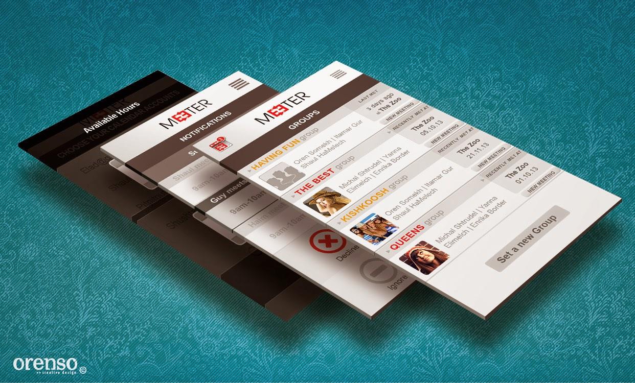 Meeter UI and branding Design