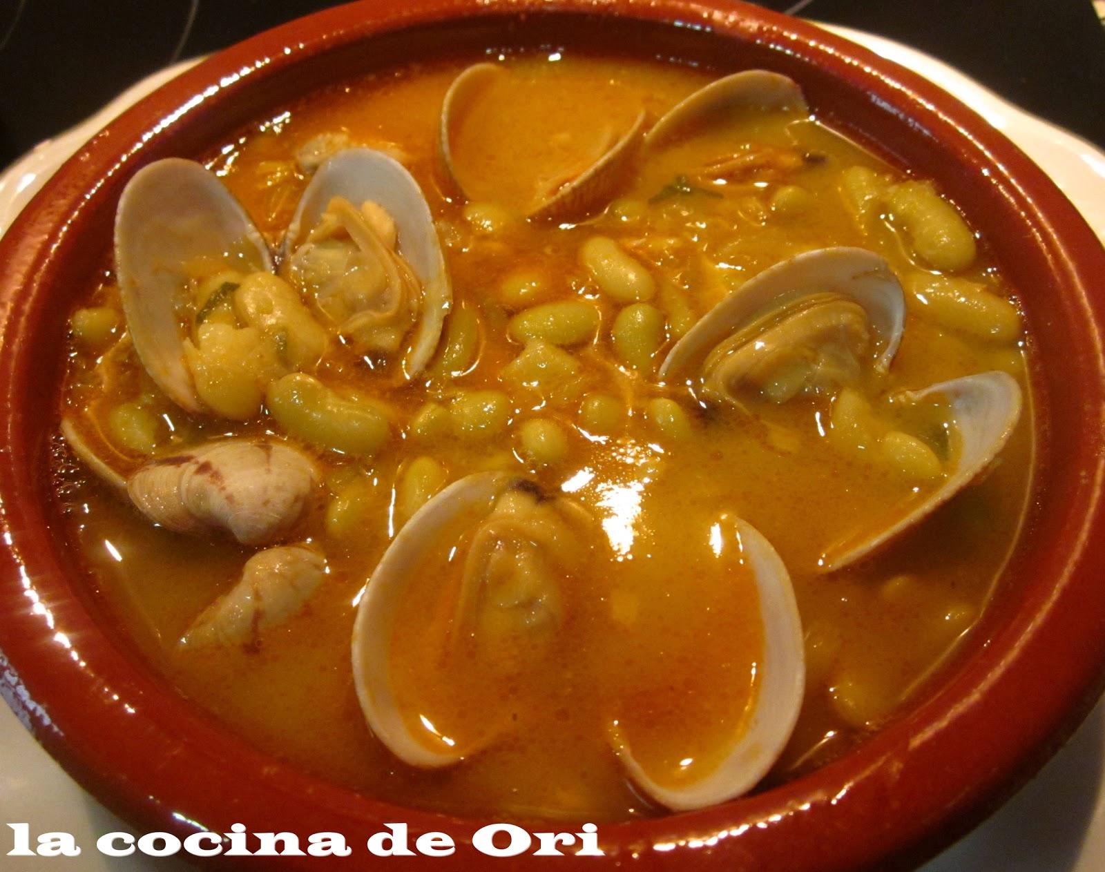 La cocina de ori verdinas con almejas for Cocina asturiana