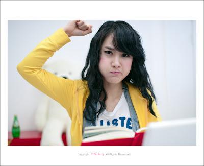Choi Ji Hyang - Yellow Cute Korean Girl