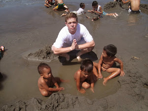 mac with naked children