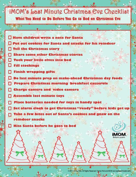One Bored Mommy Blogspot 2014 – Christmas Preparation Checklist