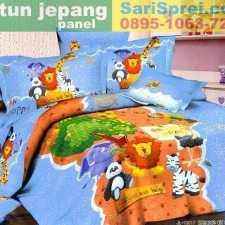 Sprei Katun Jepang Panel Jungle Friend