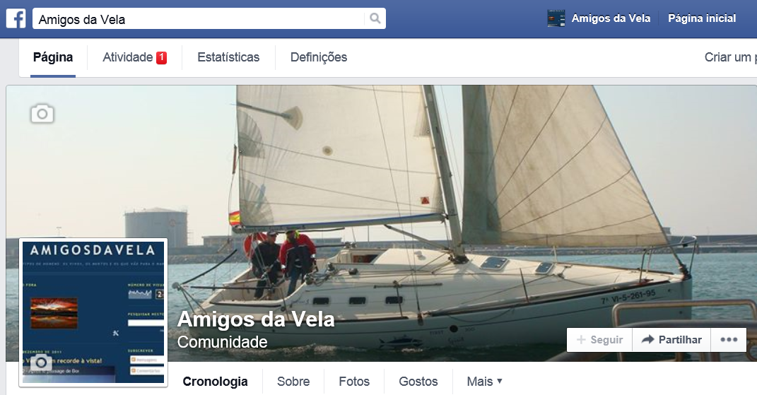 Amigos da Vela no Facebook