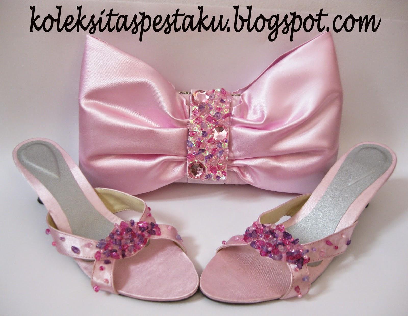 Model Terbaru Slop Pesta Warna Pink Baby Koleksi Tas Pesta