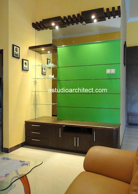 Bufet / credenza tv dengan warna hijau segar