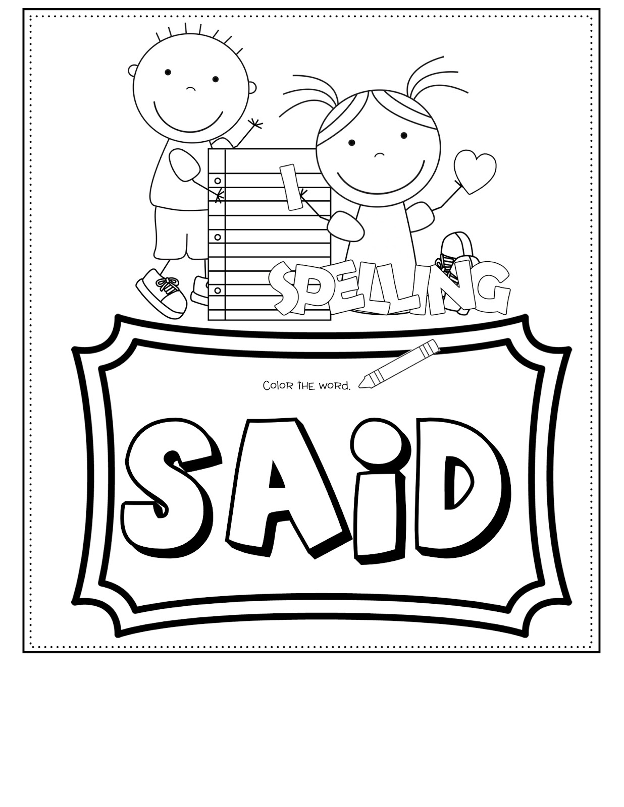 sight By Color Sight Worksheets word play book  Words printable