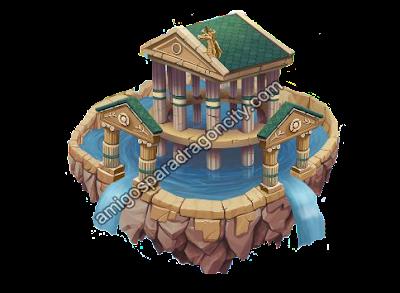 imagen de la isla olimpus de dragon city