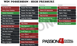 FM14 Shouts Win Possession with high pressing