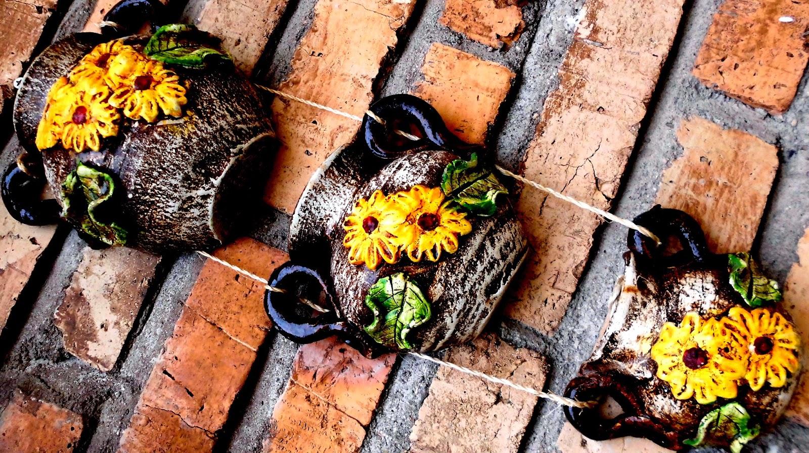 jarrones de Barro para la Pared, adornos, decoración de jardín, jarrones rústicos, jarrones artesanales