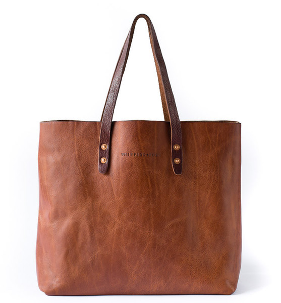 mens leather tote bag, new york designer