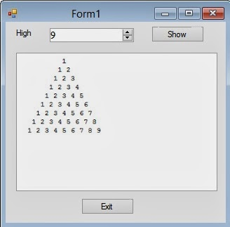 Builld a Pyramid with numbers using Visual Basic Nested Loop ...
