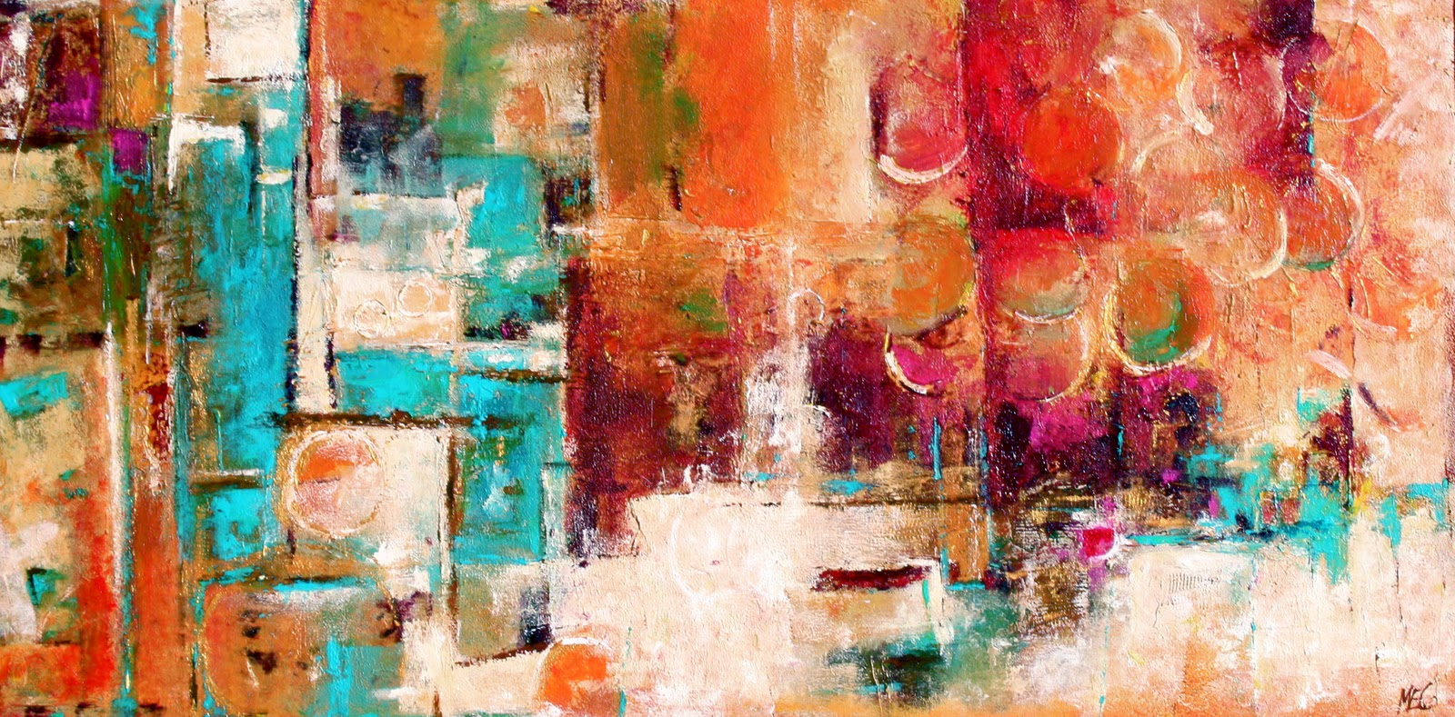 Daily painters abstract gallery auteur modern art for Abstract mural art