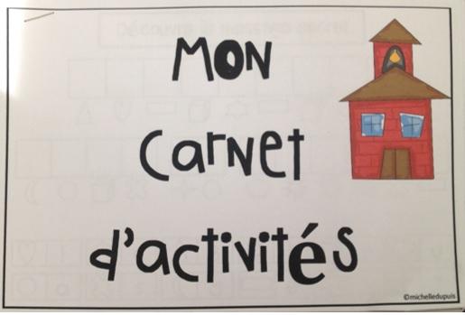 Rentrée scolaire - Carnet d'activités