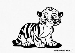 disegni da colorare tigre