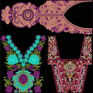 Embroidery Neck Design Download Free
