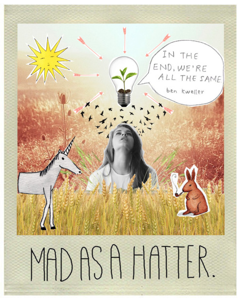 Mad as a hatter collage by @faitboum on Polyvore