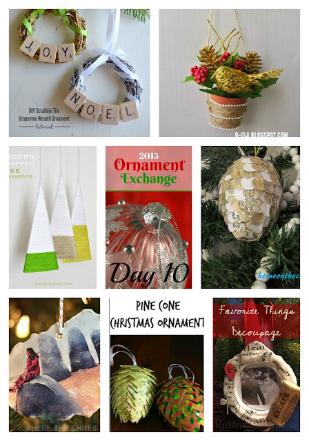 Christmas Ornament Exchange DIY Ornaments