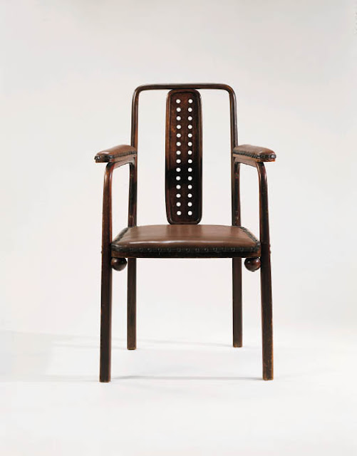 Josef Hoffmann for the Dining Room of the Purkersdorf Sanatorium, J. &. J. Kohn, model 322f, Circa 1904