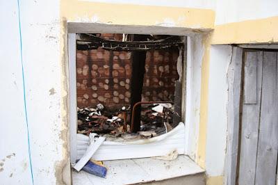 Afectos del fuego en ventanas.