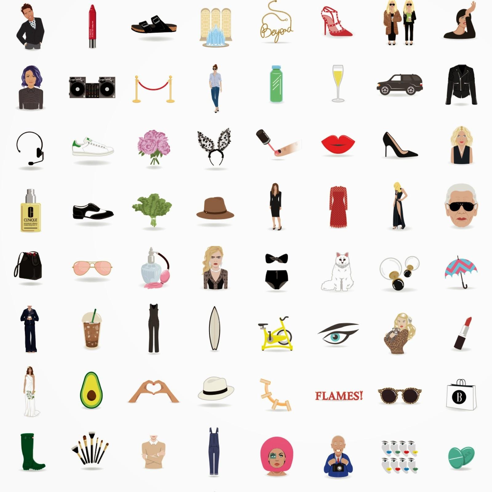 harpers bazaar fashion emojis