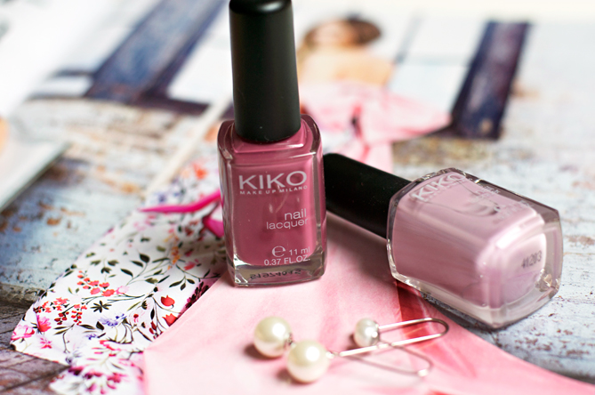 Kiko 517 Dark Antique Pink nail lacquer swatches