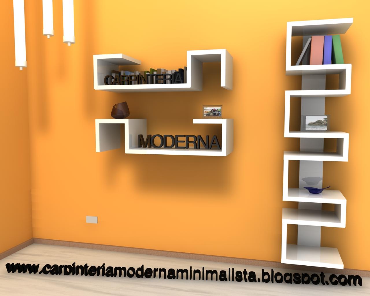 Carpinter a minimalista - Biblioteca madera blanca ...