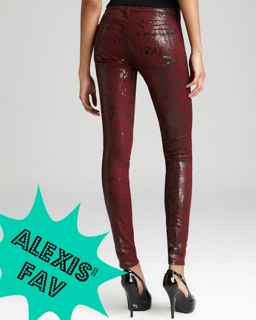 Seven For All Mankind 'The Skinny' Print Stretch Jeans- Burgundy Snake