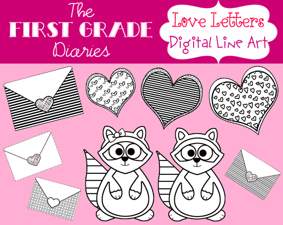 One Line Letter Art : The first grade diaries giveaway valentine s day