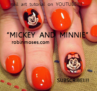 Mickey Mouse Nail Art Design Minnie Mouse Nail Art Design French