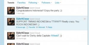 Berita bola- Djibril Cisse Ucapkan Selamat Untuk Indonesia Lewat Twitter