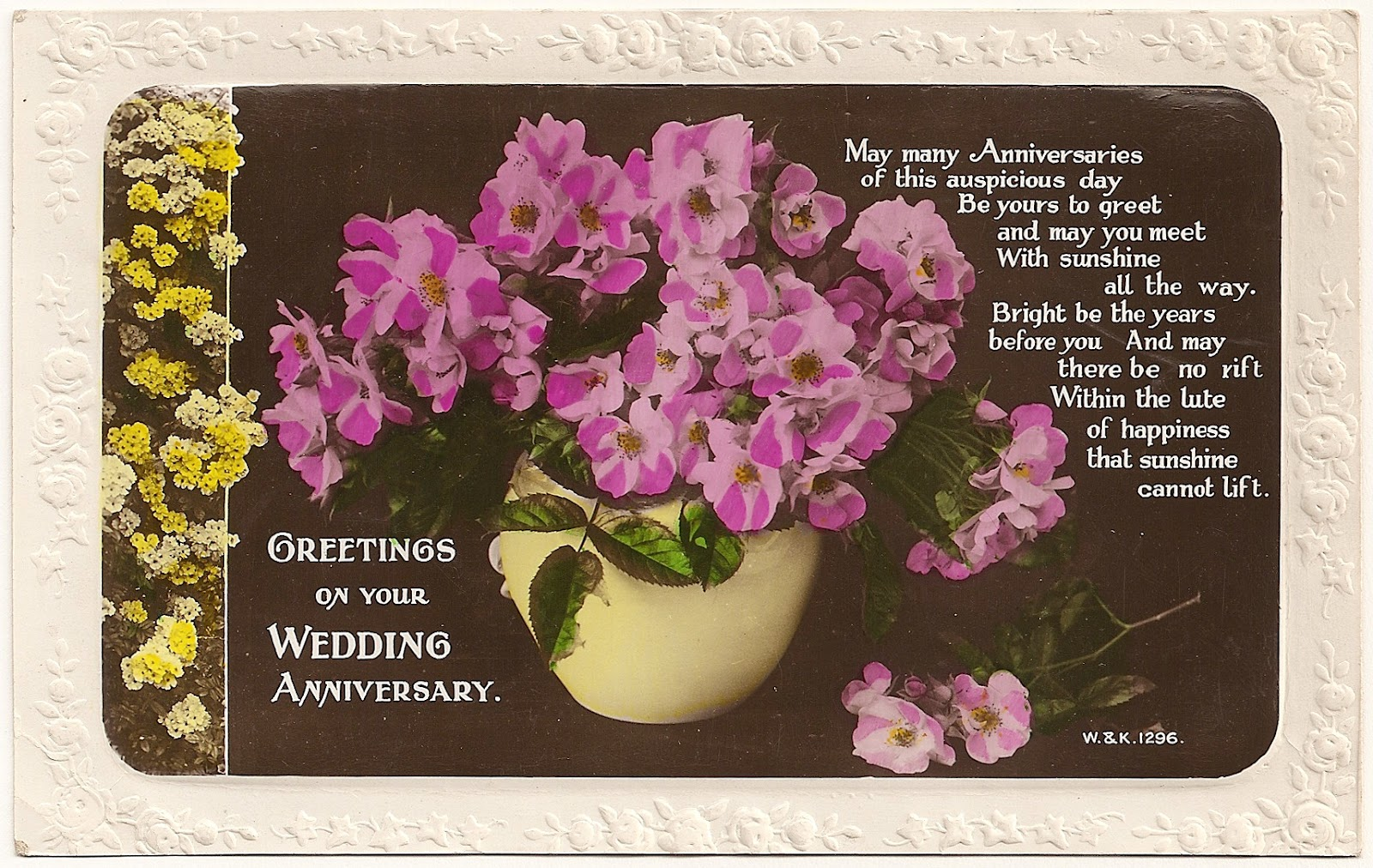 Archive Greetings On Your Wedding Anniversary
