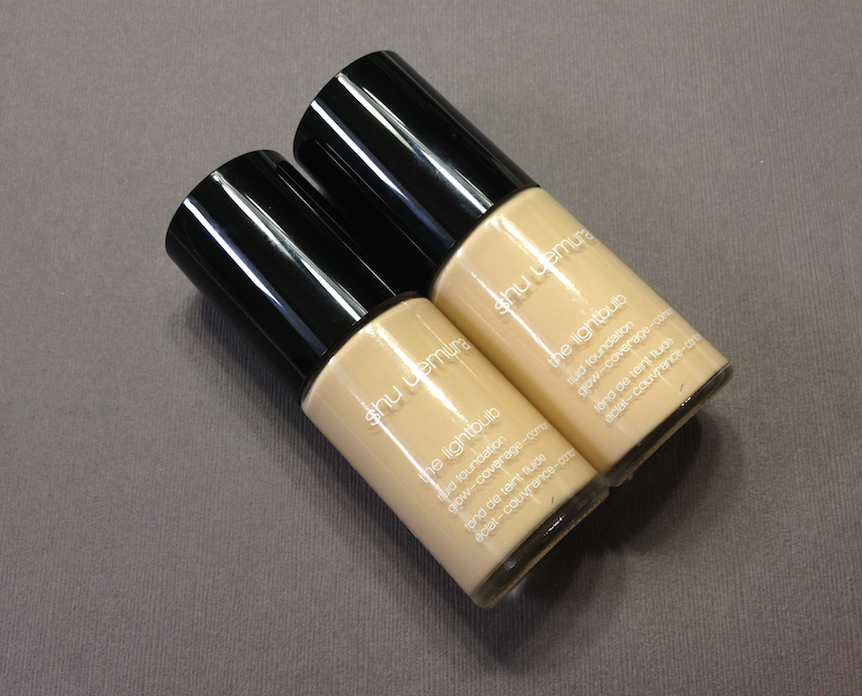 Shu Uemura The Lightbulb Foundation and Sponge - 764 Medium Light Beige and 774 Light Beige