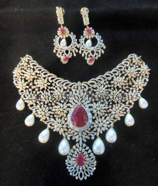 Unique Broad Diamond Set jhumkas