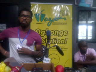 August Udoh in Wazobia FM Studio