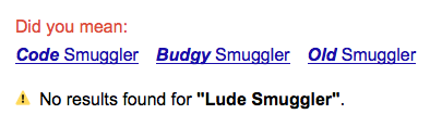 Lude Smuggler search result